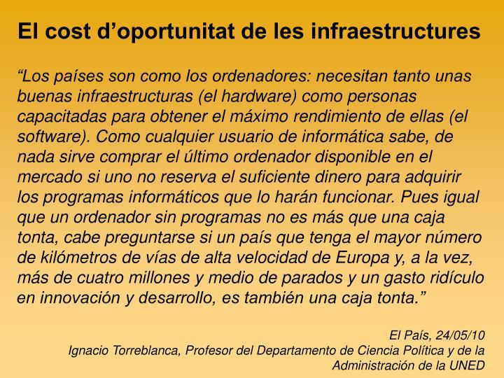 El cost d'oportunitat de les infraestructures