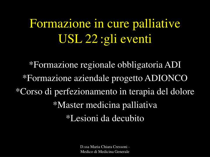 Formazione in cure palliative