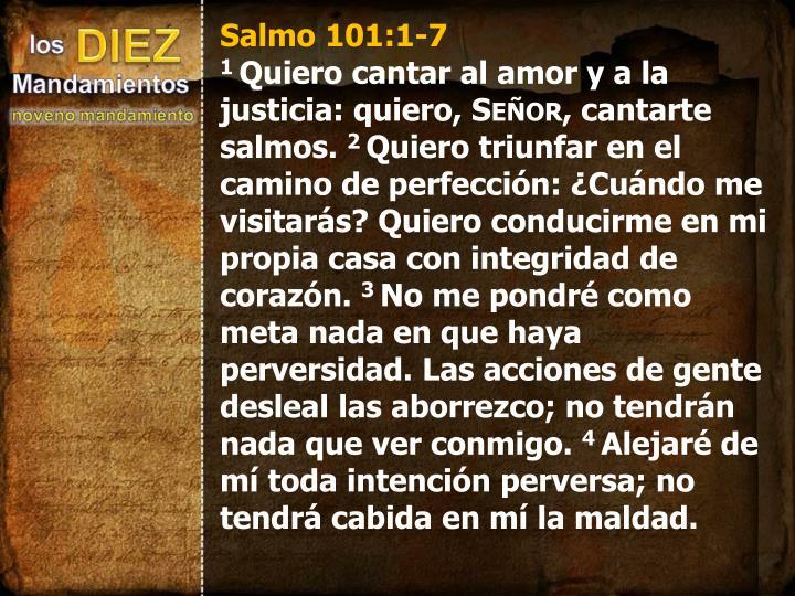 Salmo 101:1-7