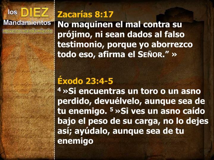 Zacarías 8:17
