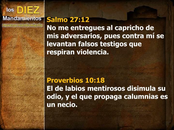 Salmo 27:12
