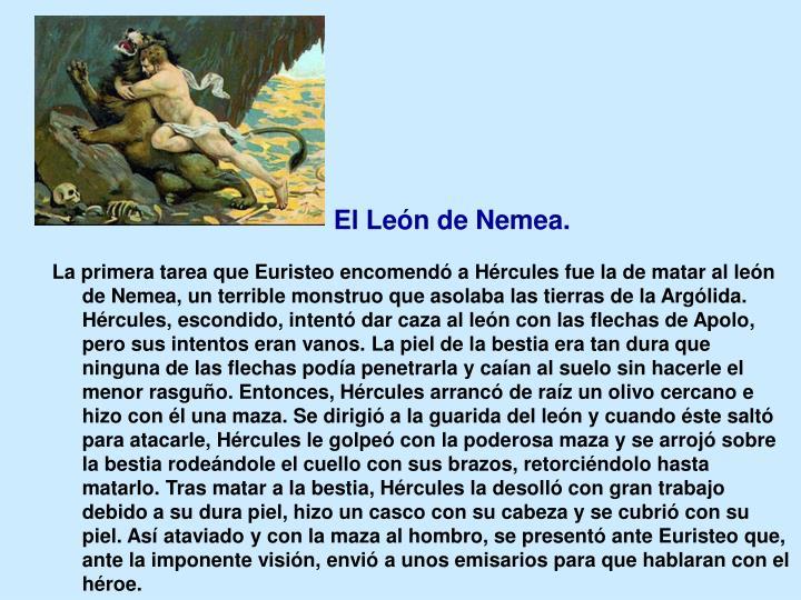 El León de Nemea.