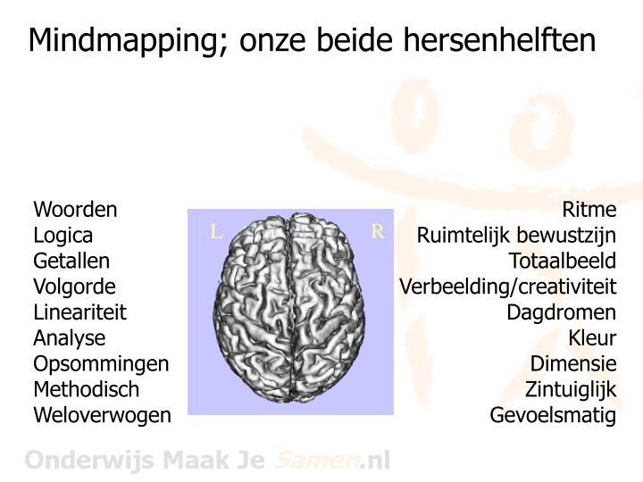 Mindmapping; onze beide hersenhelften