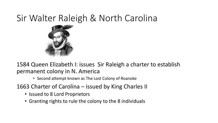 Sir Walter Raleigh & North Carolina