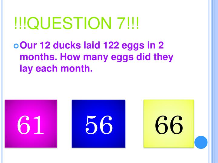 !!!QUESTION 7!!!