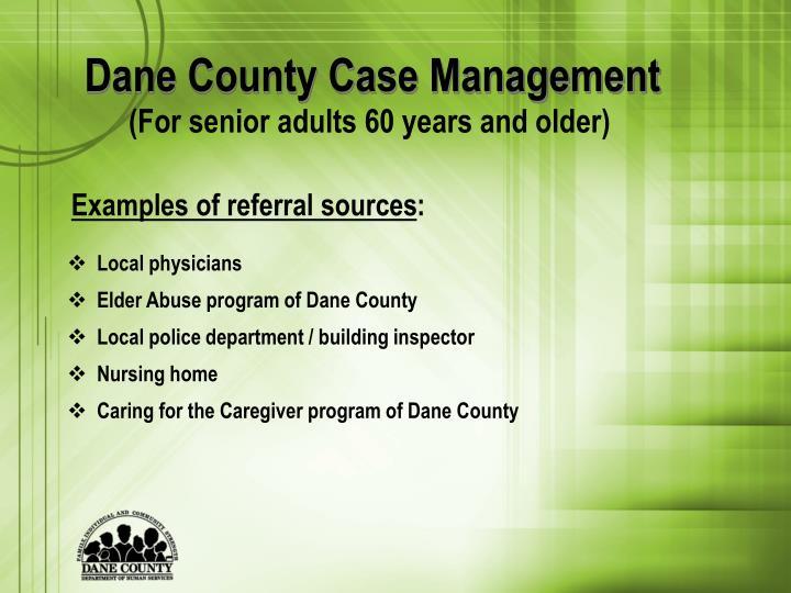 Dane County Case Management