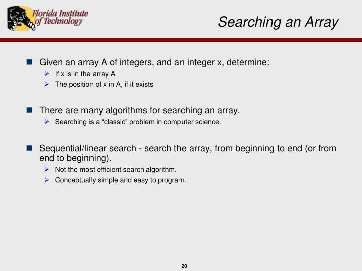Searching an Array