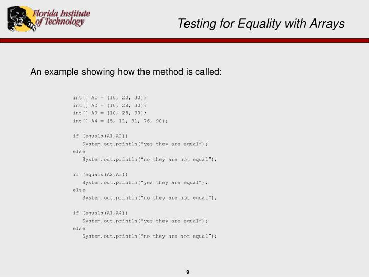 An example showing how the method is called: