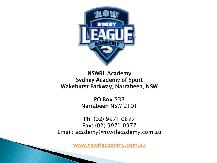 NSWRL Academy