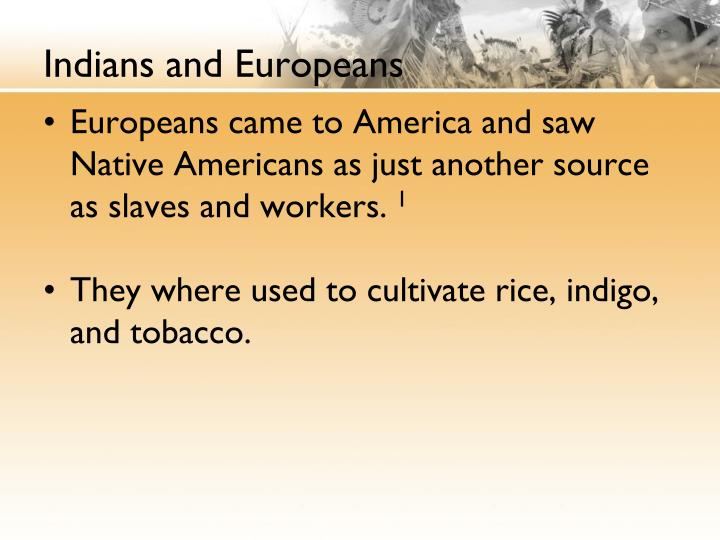Indians and europeans1