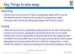 key things to take away