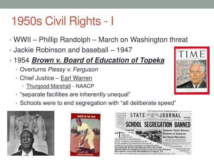 1950s Civil Rights - I