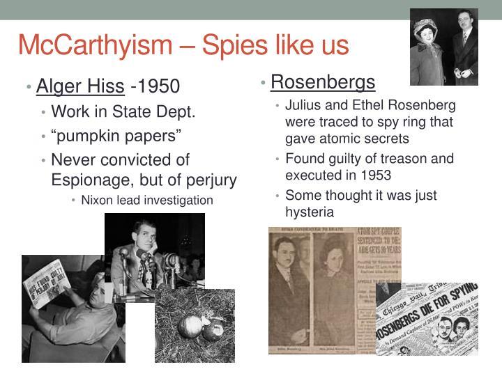 McCarthyism – Spies like us