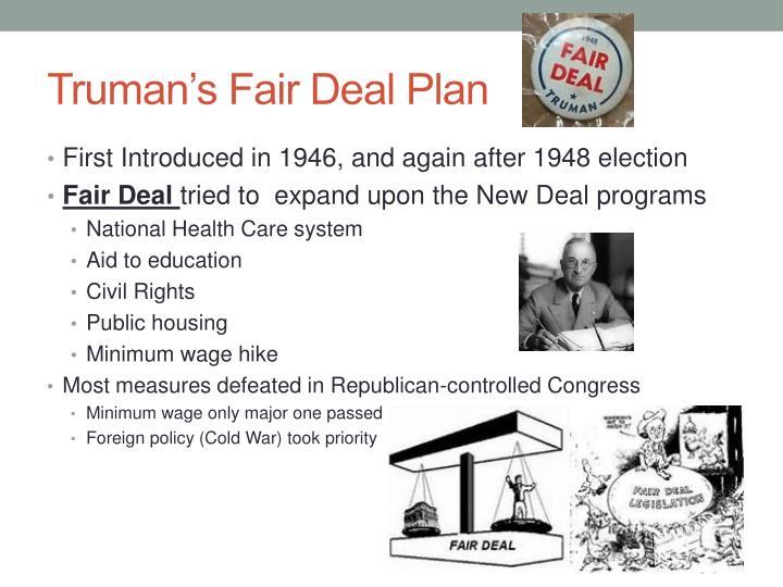 Truman's Fair Deal Plan
