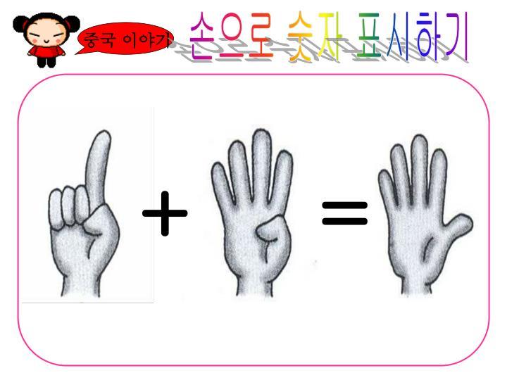 손으로 숫자 표시하기