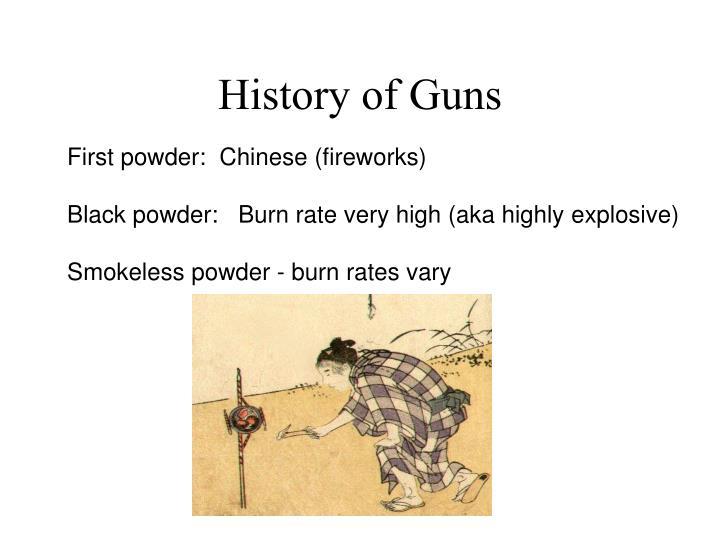 History of Guns