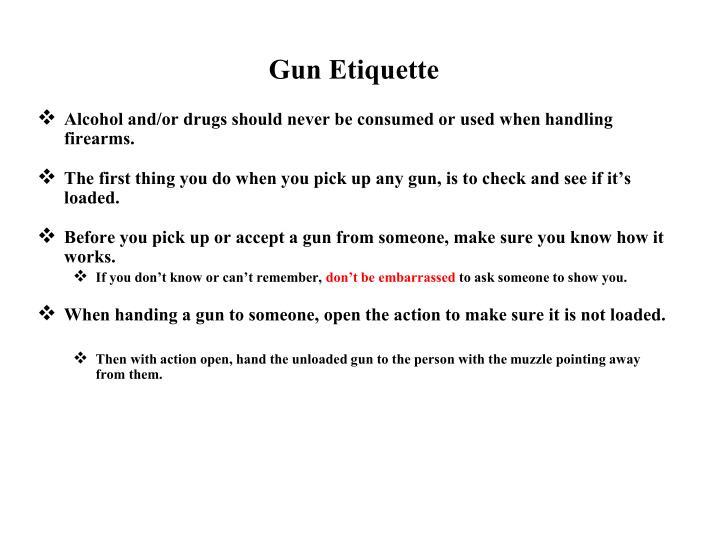 Gun Etiquette
