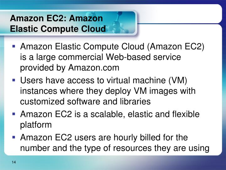 Amazon EC2: Amazon Elastic Compute Cloud