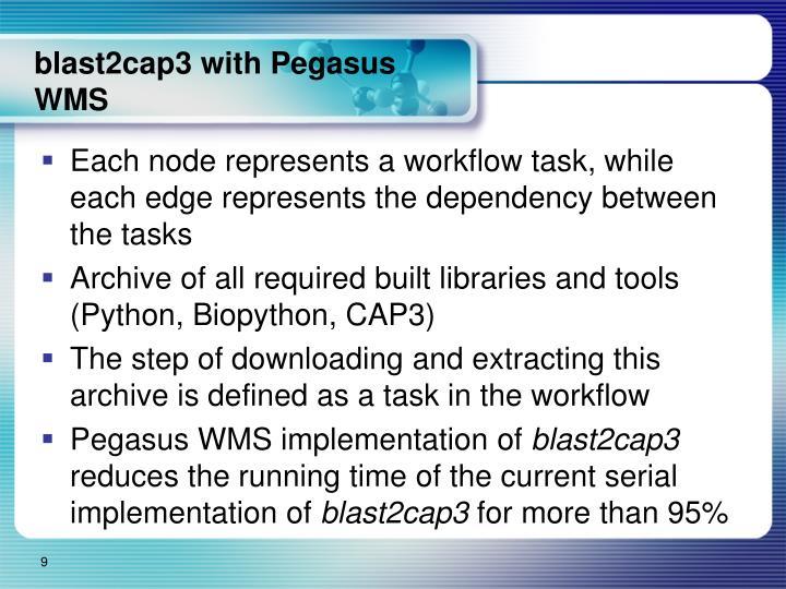 blast2cap3 with Pegasus WMS