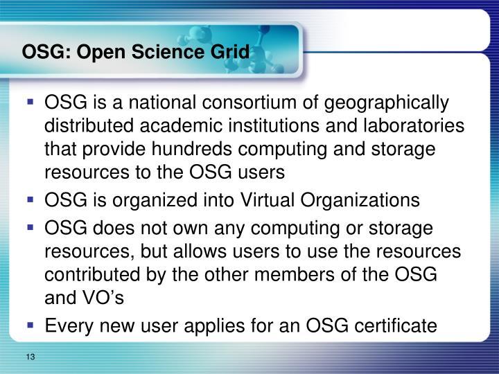 OSG: Open Science Grid