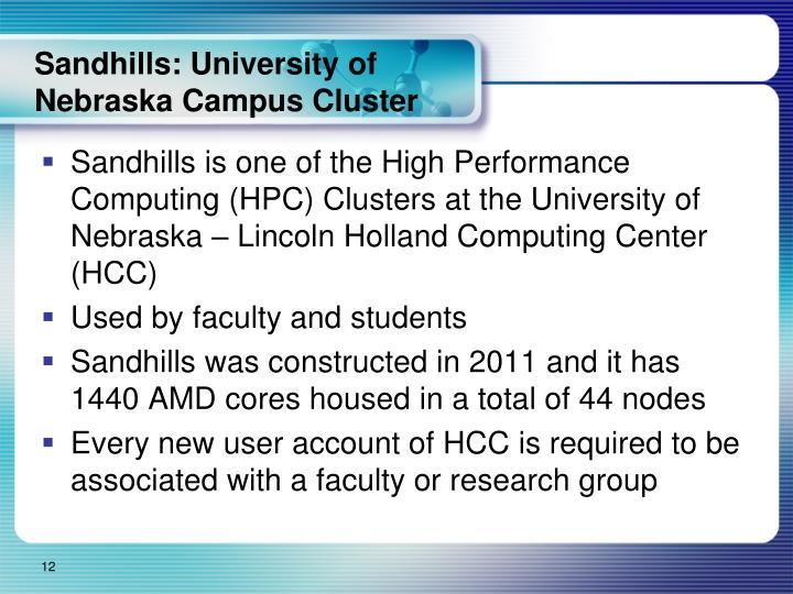 Sandhills: University of Nebraska Campus Cluster