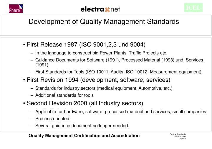 First Release 1987 (ISO 9001,2,3 und 9004)