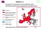 european co operation for accreditation ea multilateral agreement signatories until may 2001