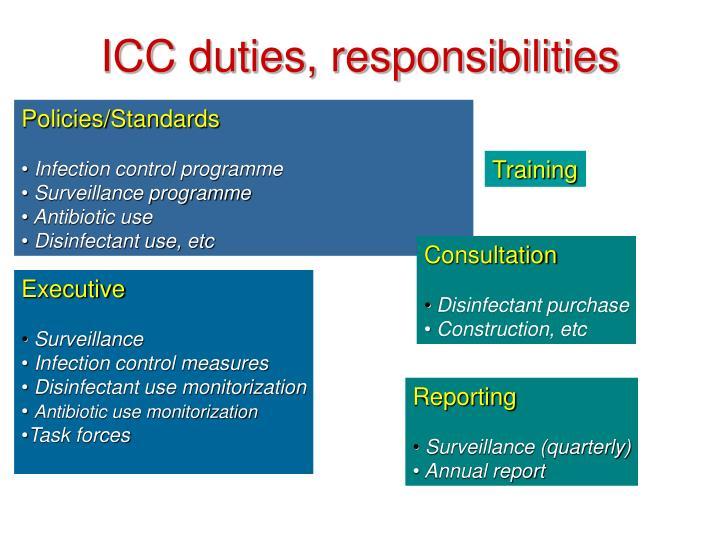 ICC duties, responsibilities