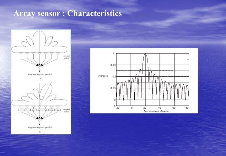 Array sensor : Characteristics