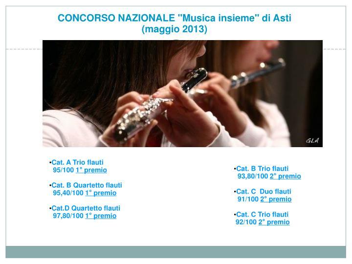 """CONCORSO NAZIONALE """"Musica insieme"""" di Asti"""