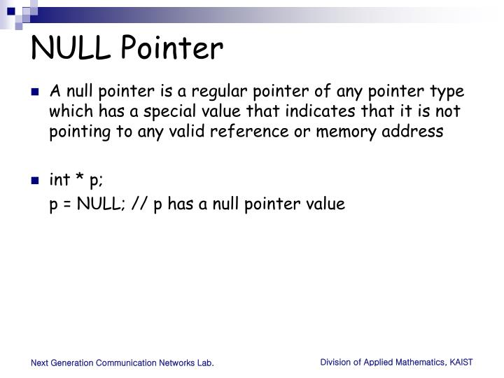 NULL Pointer