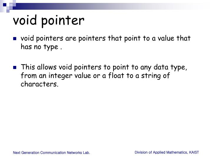 void pointer