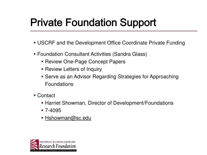 Private Foundation Support