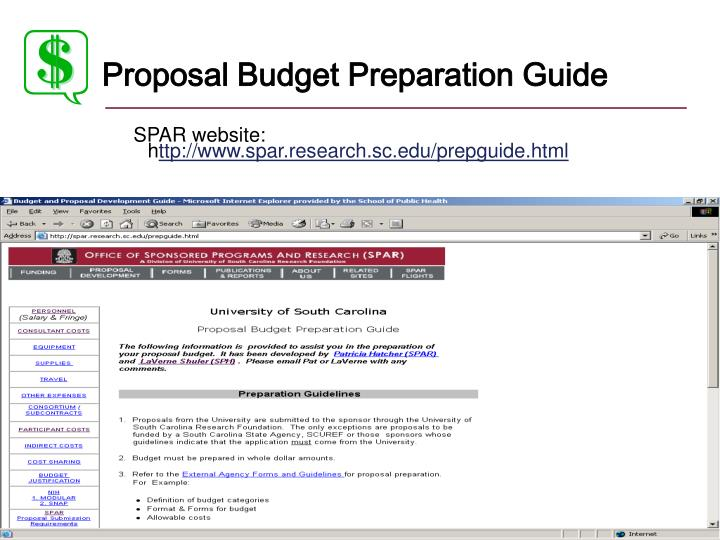 Proposal Budget Preparation Guide