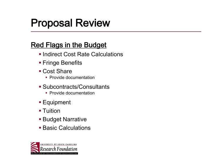 Proposal Review