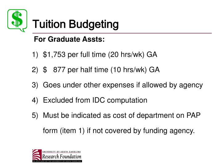 Tuition Budgeting