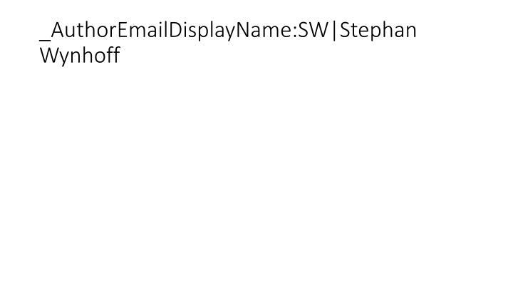 _AuthorEmailDisplayName:SW|Stephan Wynhoff
