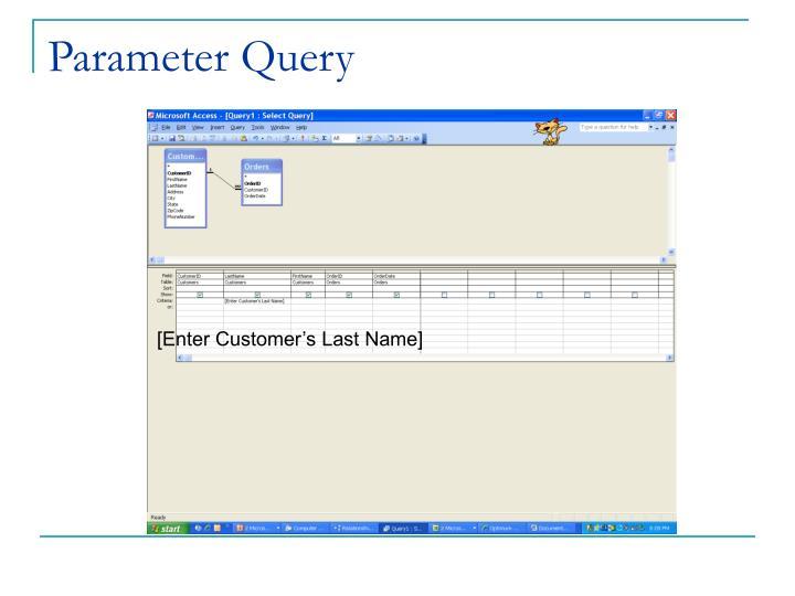 Parameter Query