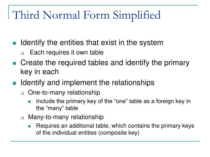 Third Normal Form Simplified
