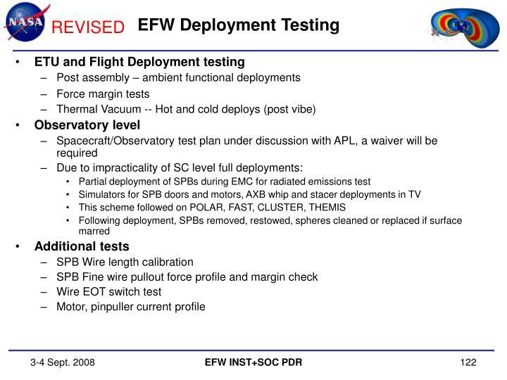EFW Deployment Testing