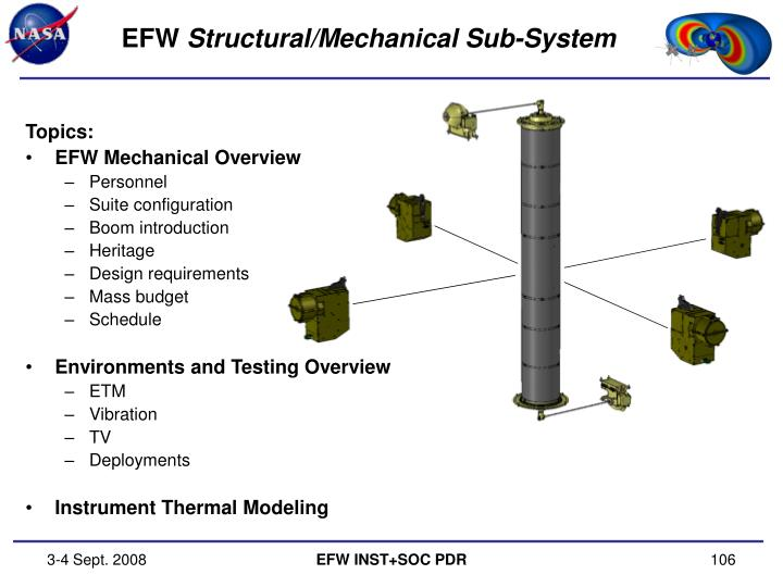 Efw structural mechanical sub system