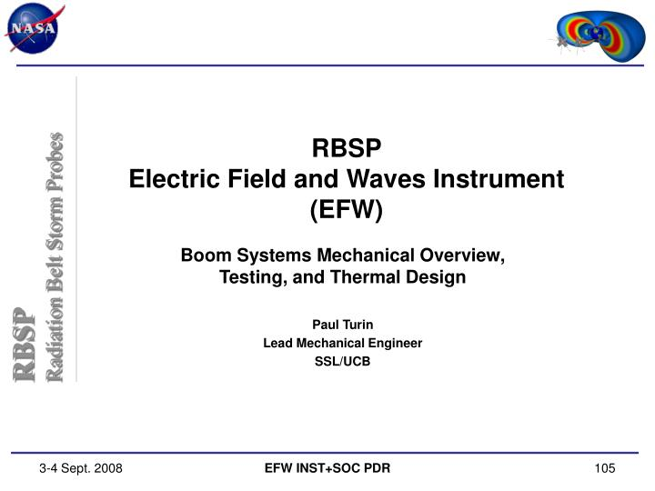 Rbsp electric field and waves instrument efw