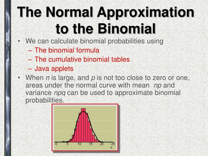 The Normal Approximation to the Binomial
