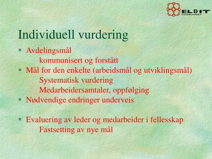 Individuell vurdering