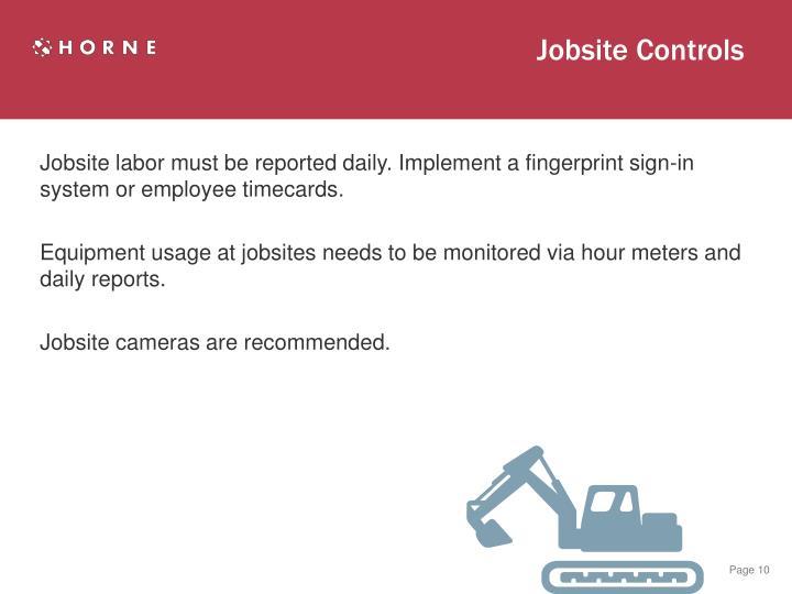 Jobsite Controls