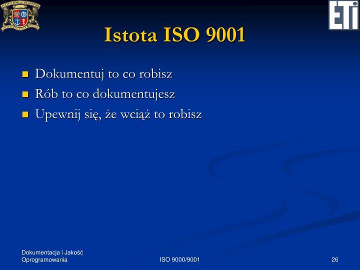 Istota ISO 9001
