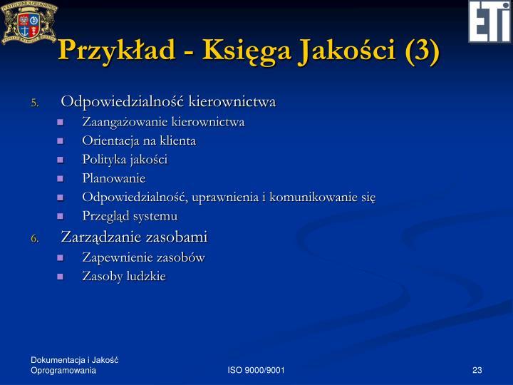 Przykład - Księga Jakości (3)