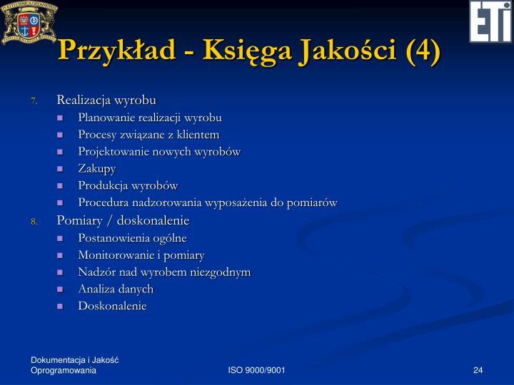 Przykład - Księga Jakości (4)