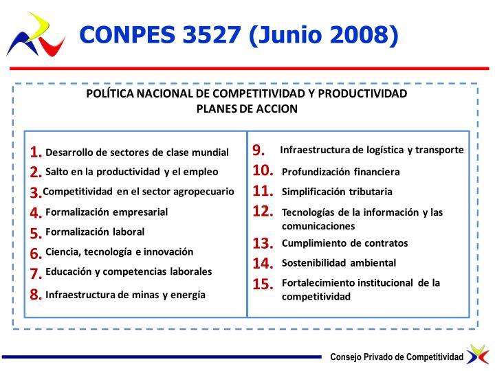 CONPES 3527 (Junio 2008)