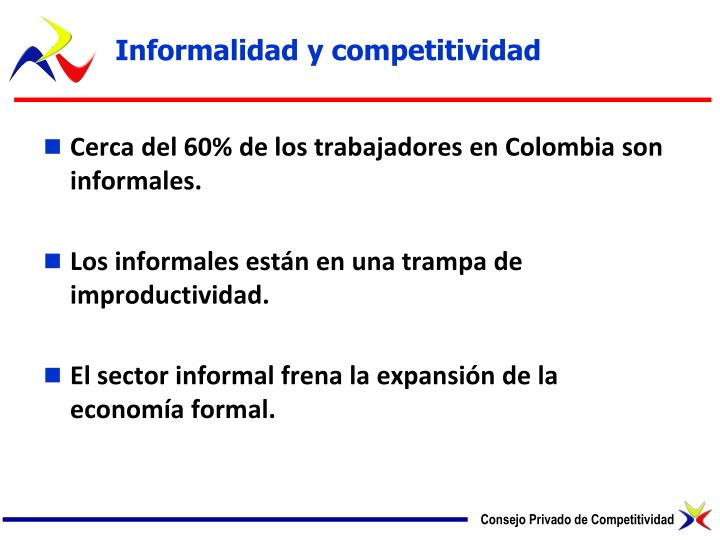 Informalidad y competitividad
